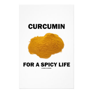 Curcumin For A Spicy Life Stationery Design