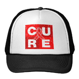 CURE AIDS HIV Distressed Cube Trucker Hats