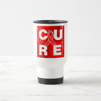 CURE AIDS HIV Distressed Cube Stainless Steel Travel Mug