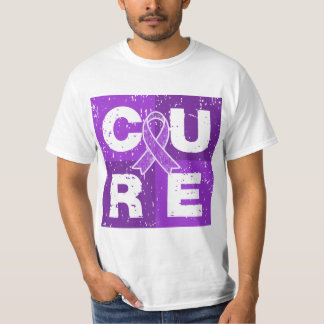 CURE Alzheimer's Disease Distressed Cube T-Shirt