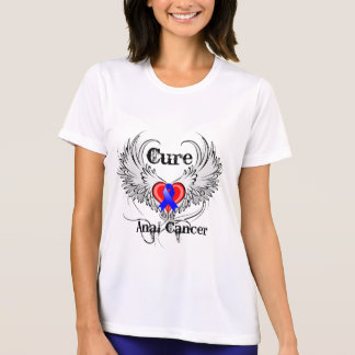 Cure Anal Cancer Heart Tattoo Wings Tee Shirts