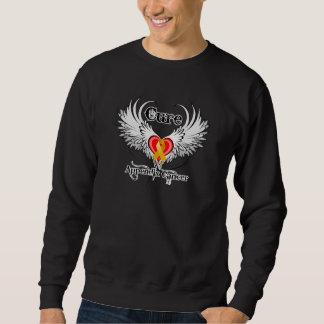 Cure Appendix Cancer Heart Tattoo Wings Sweatshirt