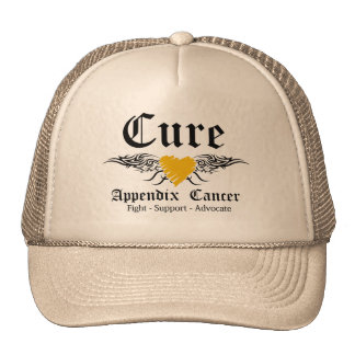 Cure Appendix Cancer Tattoo Wings Hats