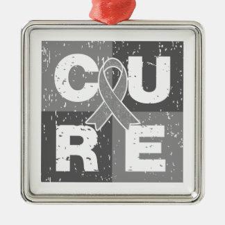 CURE Asthma Cube Christmas Ornament