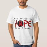 Cure Begins With Hope 5 AIDS T Shirts