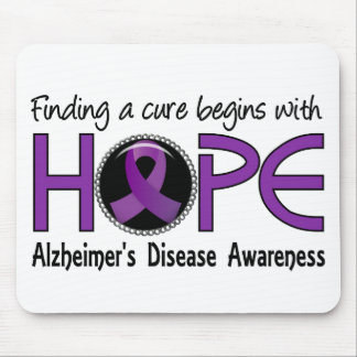 Cure Begins With Hope 5 Alzheimer's Disease Mouse Pad