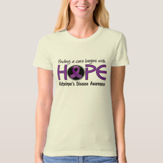 Cure Begins With Hope 5 Alzheimer's Disease T Shirts