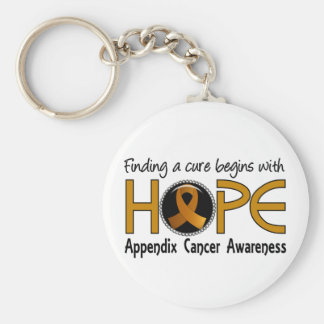 Cure Begins With Hope 5 Appendix Cancer Basic Round Button Key Ring