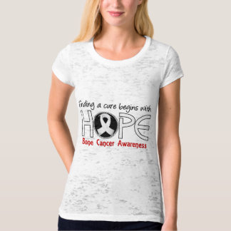 Cure Begins With Hope 5 Bone Cancer T Shirt