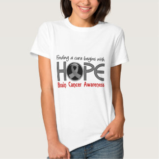 Cure Begins With Hope 5 Brain Cancer Tshirts