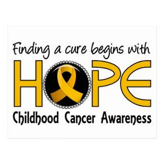 Cure Begins With Hope 5 Childhood Cancer Postcard