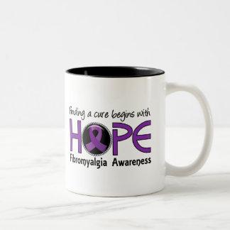 Cure Begins With Hope 5 Fibromyalgia Two-Tone Mug