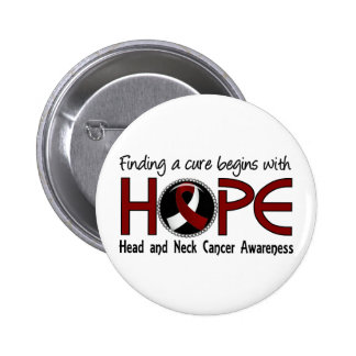 Cure Begins With Hope 5 Head and Neck Cancer 6 Cm Round Badge
