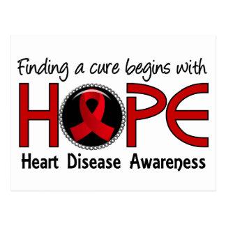 Cure Begins With Hope 5 Heart Disease Postcard