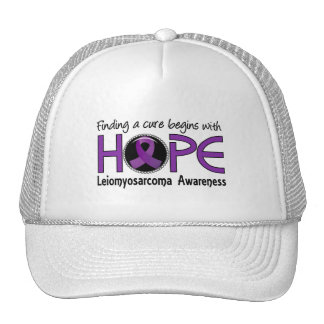Cure Begins With Hope 5 Leiomyosarcoma Trucker Hat