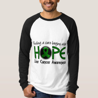 Cure Begins With Hope 5 Liver Cancer T Shirt