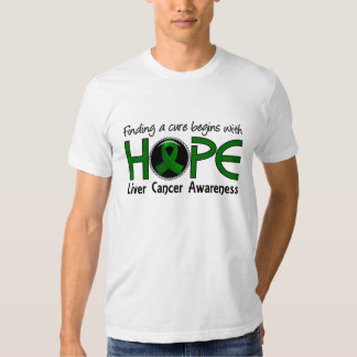 Cure Begins With Hope 5 Liver Cancer Tshirt