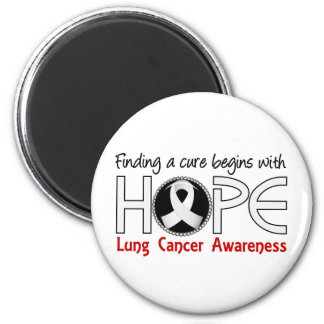 Cure Begins With Hope 5 Lung Cancer 6 Cm Round Magnet