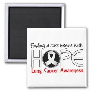 Cure Begins With Hope 5 Lung Cancer Magnets