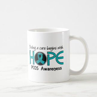 Cure Begins With Hope 5 PCOS Basic White Mug