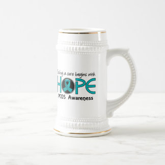 Cure Begins With Hope 5 PCOS Beer Steins