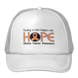 Cure Begins With Hope 5 Uterine Cancer Hat