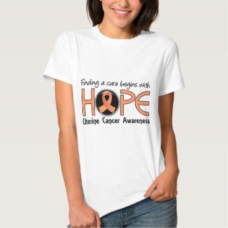 Cure Begins With Hope 5 Uterine Cancer Shirt
