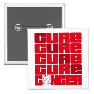 CURE Bone Cancer Collage Pinback Buttons