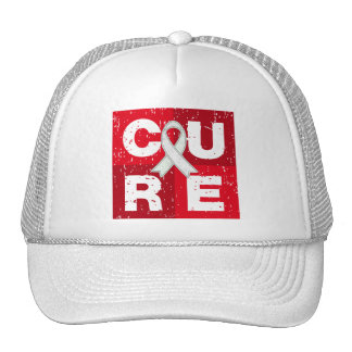 CURE Bone Cancer Distressed Cube Mesh Hats