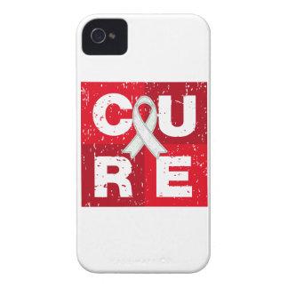 CURE Bone Cancer Distressed Cube iPhone 4 Case