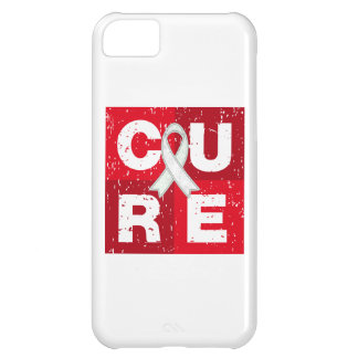 CURE Bone Cancer Distressed Cube iPhone 5C Cases