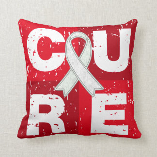 CURE Bone Cancer Distressed Cube Throw Pillow