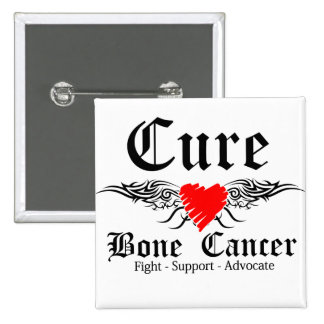 Cure Bone Cancer Tattoo Wings 15 Cm Square Badge
