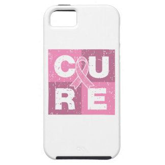 CURE Breast Cancer Distressed Cube iPhone 5 Cases