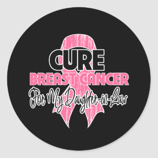 Cure Breast Cancer For My Daughter-in-Law Classic Round Sticker