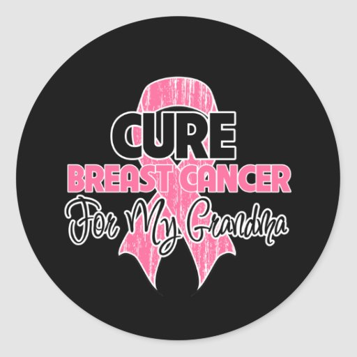 Cure Breast Cancer For My Grandma Stickers