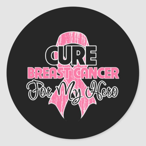 Cure Breast Cancer For My Hero Sticker