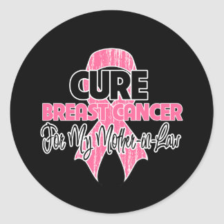 Cure Breast Cancer For My Mother-in-Law Classic Round Sticker