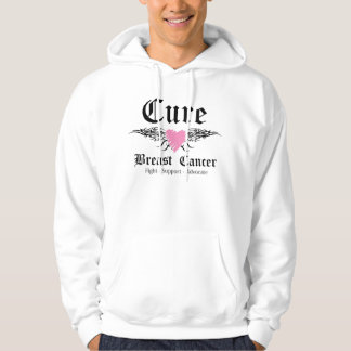 Cure Breast Cancer Tattoo Wings Hoodie