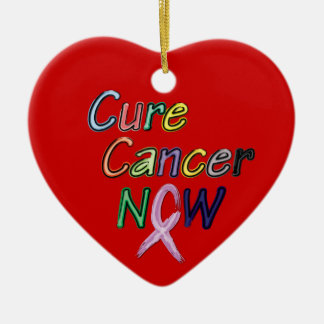 Cure Cancer Now Multi-Ribbon Ornament