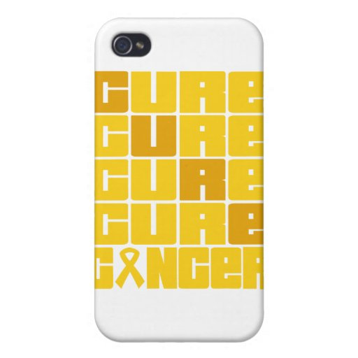 CURE Childhood Cancer Collage iPhone 4 Covers