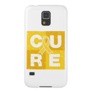 CURE Childhood Cancer Distressed Cube Case For Galaxy S5