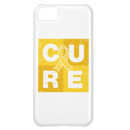 CURE Childhood Cancer Distressed Cube iPhone 5C Cover