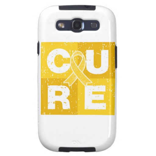 CURE Childhood Cancer Distressed Cube Samsung Galaxy S3 Cases