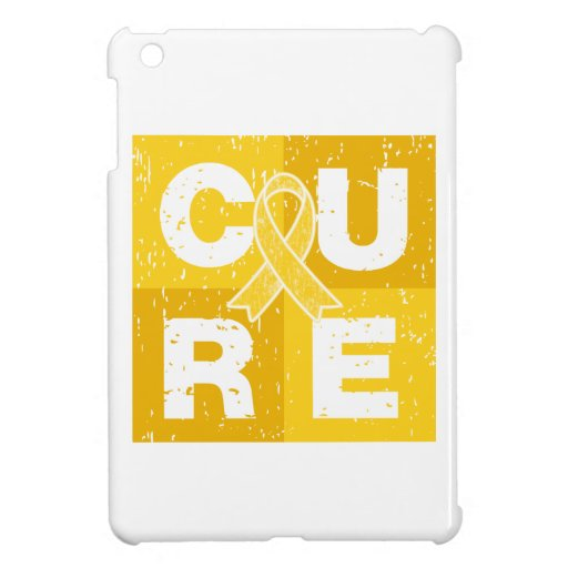 CURE Childhood Cancer Distressed Cube Cover For The iPad Mini