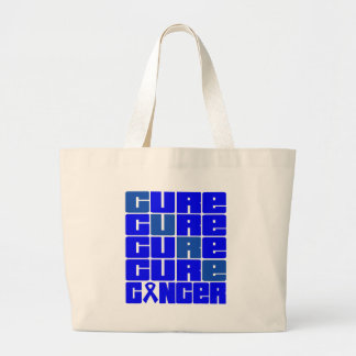 CURE Colon Cancer Collage Jumbo Tote Bag