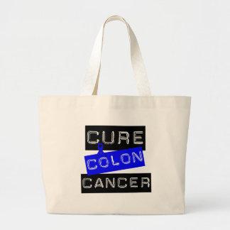 Cure Colon Cancer Jumbo Tote Bag