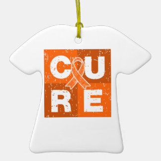 CURE COPD Distressed Cube Christmas Ornament