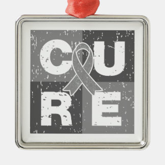 CURE Diabetes Distressed Cube Christmas Ornaments