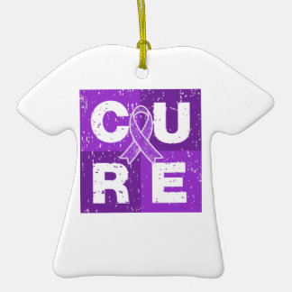 CURE Epilepsy Distressed Cube Christmas Ornaments
